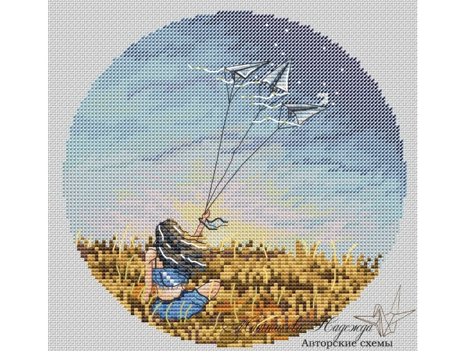 Wind Music Cross Stitch Pattern фото 1