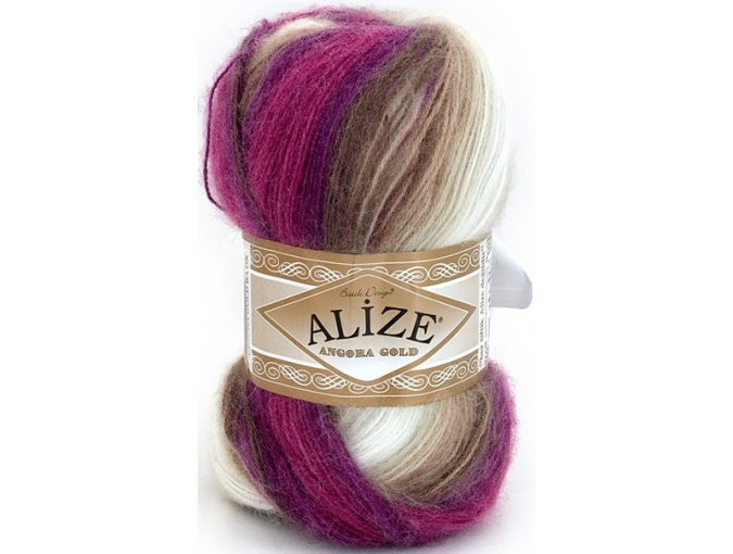 Alize Angora Gold Batik, 10% mohair, 10% wool, 80% acrylic 5 Skein Value Pack, 500g фото 21