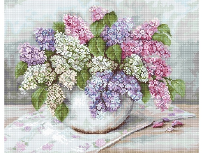 Lilacs Cross Stitch Kit фото 1