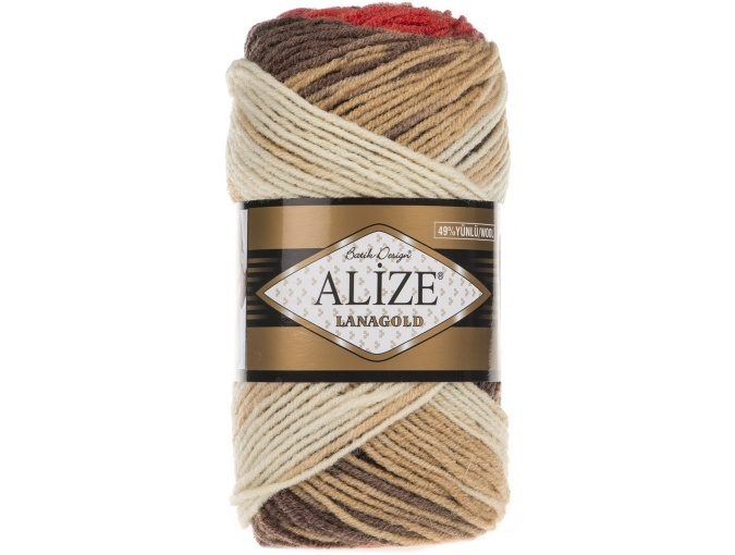 Alize Lanagold Batik 49% Wool, 51% Acrylic, 5 Skein Value Pack, 500g фото 13