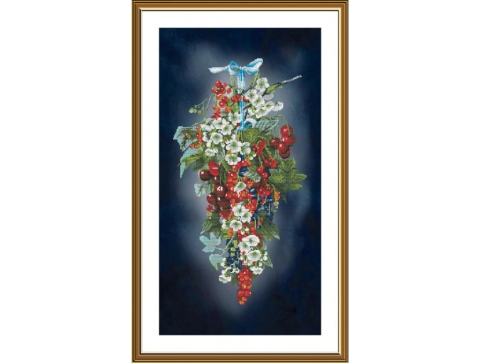 Berry Cascade Cross Stitch Kit фото 1