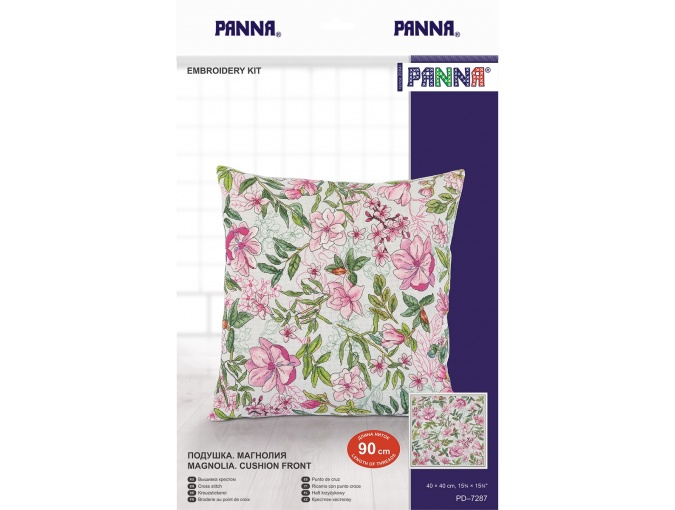 Magnolia Cushion Front Cross Stitch Kit фото 3