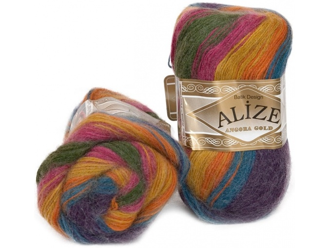 Alize Angora Gold Batik, 10% mohair, 10% wool, 80% acrylic 5 Skein Value Pack, 500g фото 2