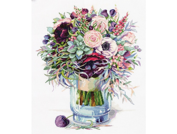 Bouquet with Anemones Cross Stitch Kit фото 1