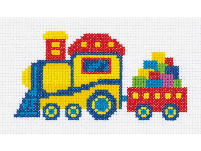 Railway Train Cross Stitch Kit фото 1
