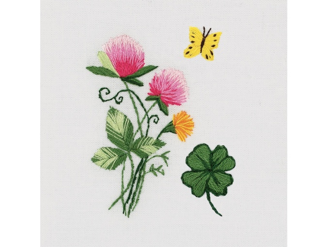 Small Bunch of Clovers Embroidery Kit фото 1