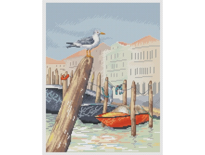 Venice Cross Stitch Pattern фото 1