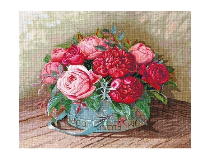 Peonies and Roses Cross Stitch Kit фото 1