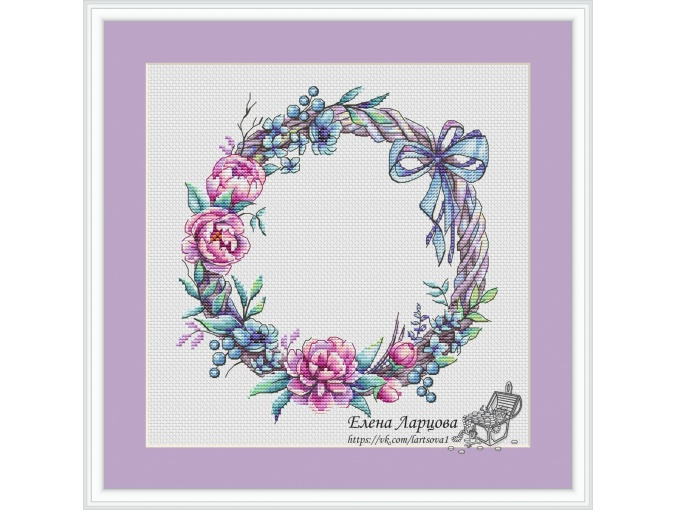 Wreath with Owl Cross Stitch Pattern фото 2