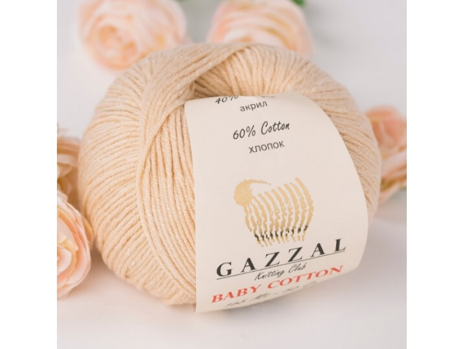 Gazzal Baby Cotton, 60% Cotton, 40% Acrylic 10 Skein Value Pack, 500g фото 72