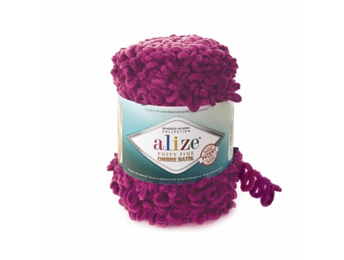 Alize Puffy Fine Ombre Batik, 100% Micropolyester 1 Skein Value Pack, 500g фото 1