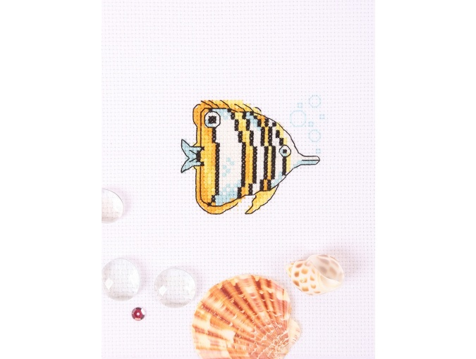 Copperband Butterflyfish Cross Stitch Kit фото 3