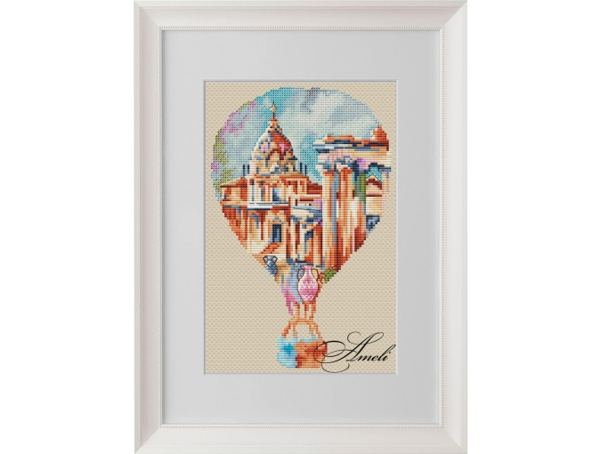 Watercolor Rome Cross Stitch Pattern фото 1