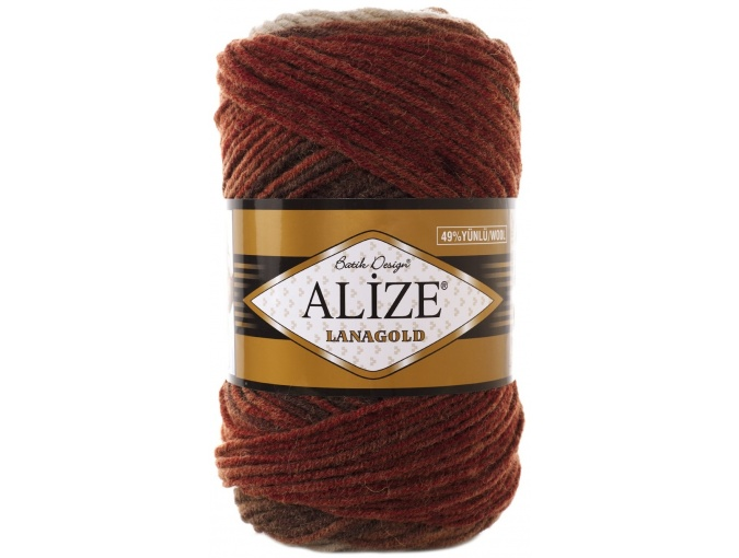 Alize Lanagold Batik 49% Wool, 51% Acrylic, 5 Skein Value Pack, 500g фото 14