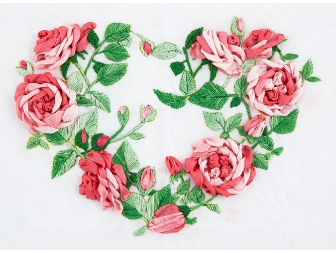 Rose Heart Embroidery Kit фото 1