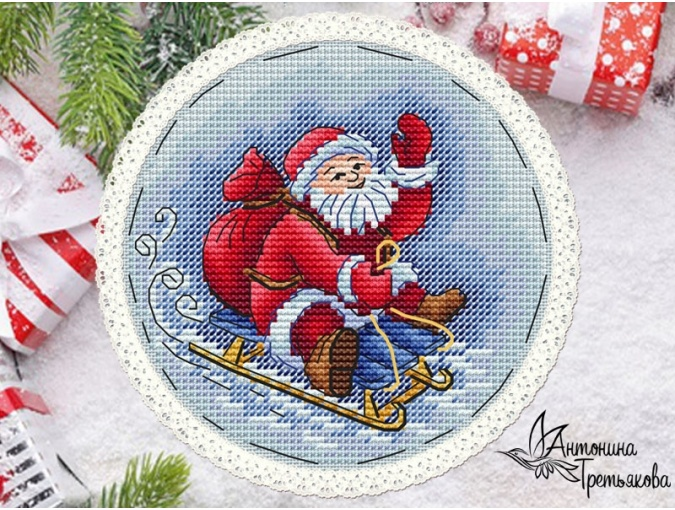 New Year's Сharacters. Santa Cross Stitch Pattern фото 1