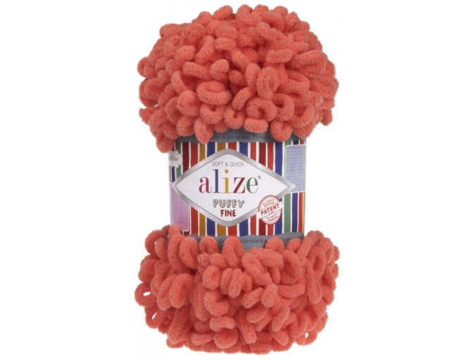 Alize Puffy Fine, 100% Micropolyester 5 Skein Value Pack, 500g фото 32