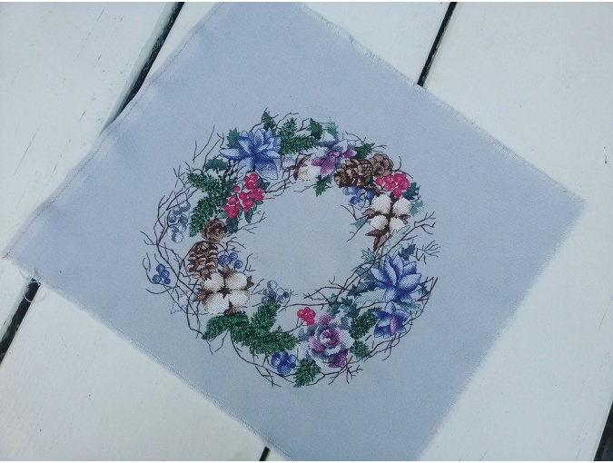 Winter Dream Wreath Cross Stitch Pattern фото 3