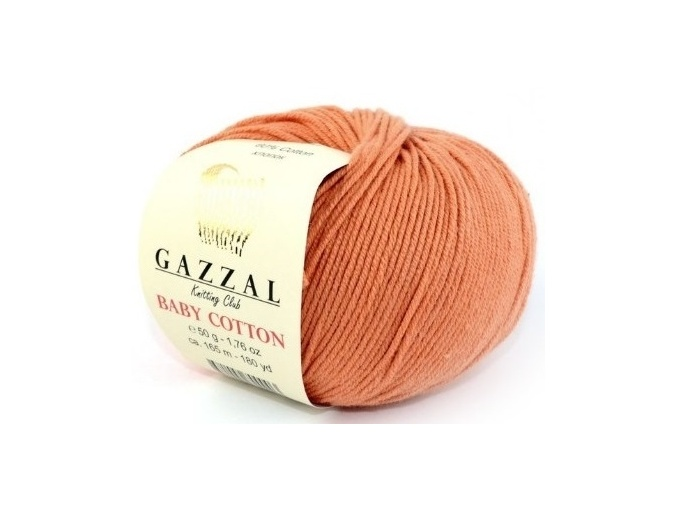 Gazzal Baby Cotton, 60% Cotton, 40% Acrylic 10 Skein Value Pack, 500g фото 112