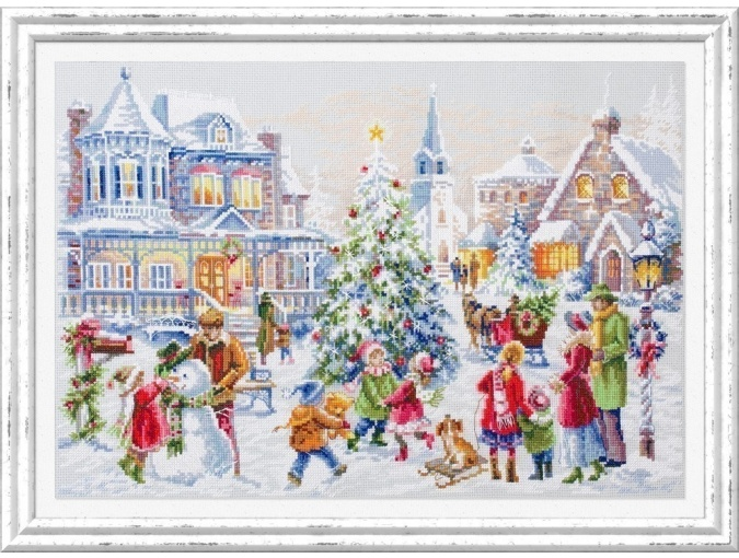 Christmas Eve Cross Stitch Kit by Magic Needle фото 1