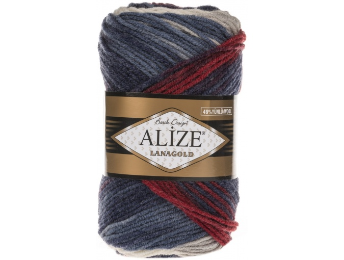 Alize Lanagold Batik 49% Wool, 51% Acrylic, 5 Skein Value Pack, 500g фото 8