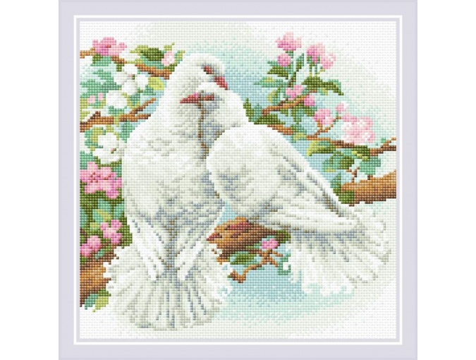 White Doves Diamond Painting Kit фото 1