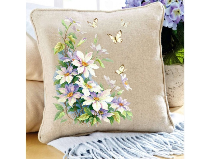 Clematis and Butterflies Cross Stitch Kit фото 7