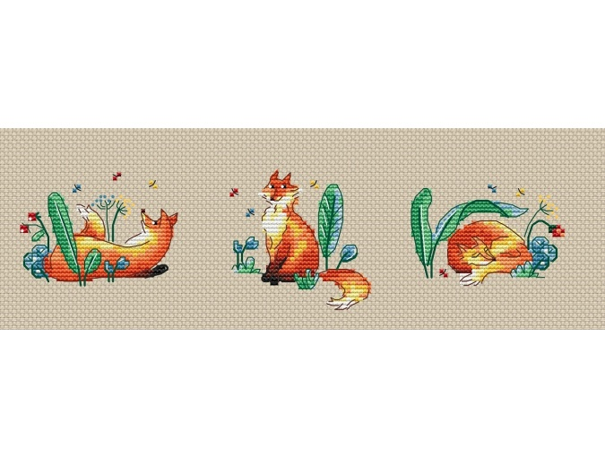Sisters Foxes Cross Stitch Pattern фото 1