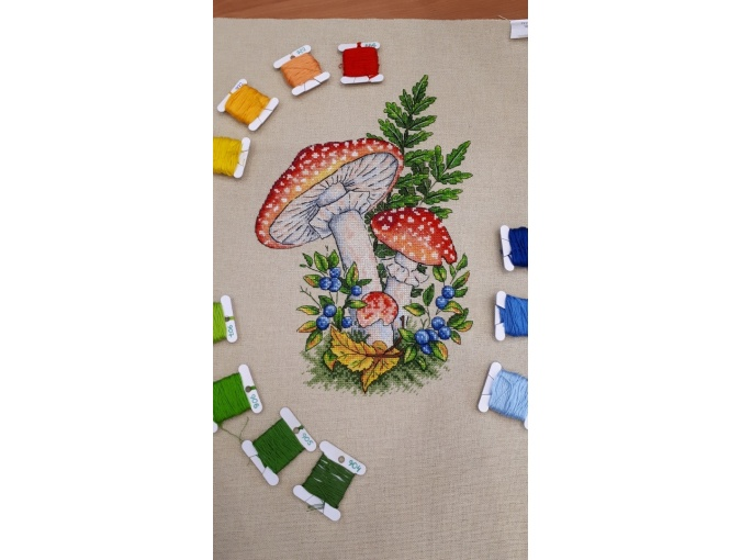 Fly-agarics Cross Stitch Pattern фото 2