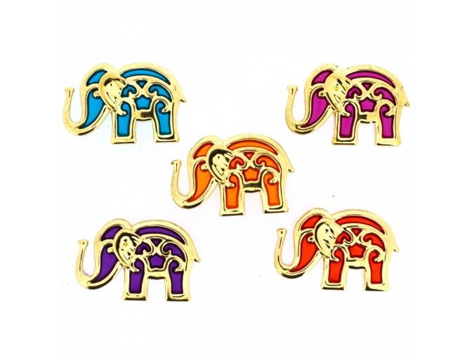 Bollywood Elephants Set of Decorative Buttons фото 1