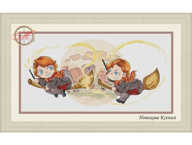Fred & George Cross Stitch Pattern фото 1