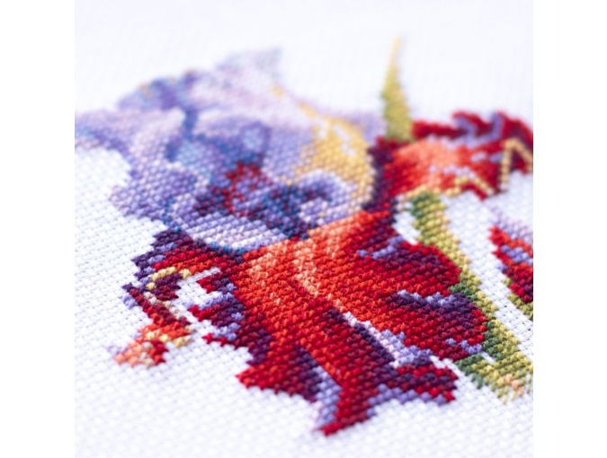 Purple Iris Cross Stitch Kit фото 6