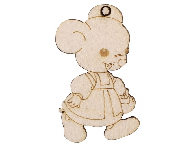 Wooden Mouse in a Sundress фото 1