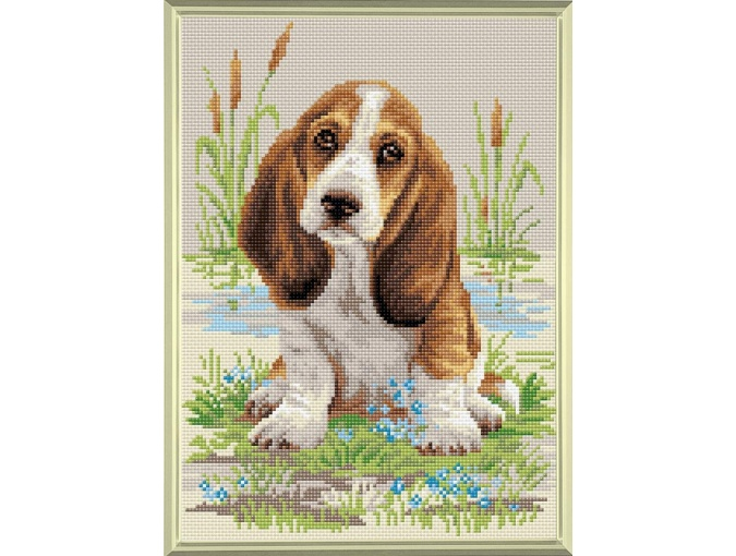 Basset Hound Puppy Diamond Painting Kit фото 1