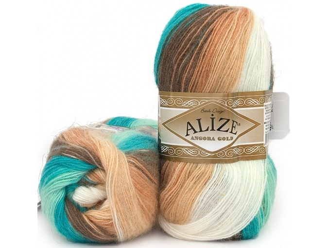 Alize Angora Gold Batik, 10% mohair, 10% wool, 80% acrylic 5 Skein Value Pack, 500g фото 33
