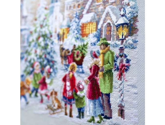 Christmas Eve Cross Stitch Kit by Magic Needle фото 7