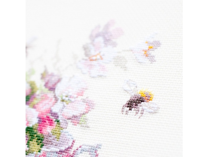 Cup and Apple Blossom Cross Stitch Kit фото 5