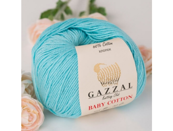 Gazzal Baby Cotton, 60% Cotton, 40% Acrylic 10 Skein Value Pack, 500g фото 84