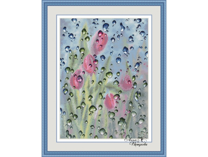 Behind the Glass Cross Stitch Pattern фото 1