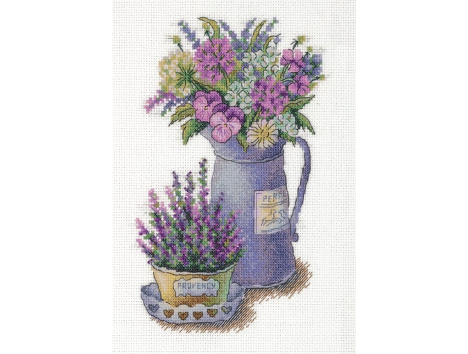 Flowers of Provence Cross Stitch Kit фото 1