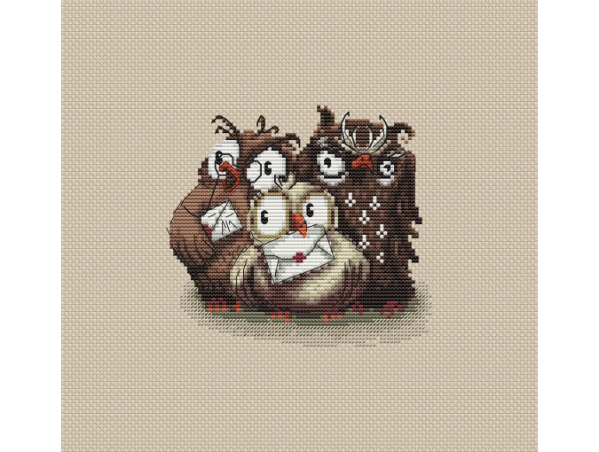 Weasley Family Owls Cross Stitch Pattern фото 1