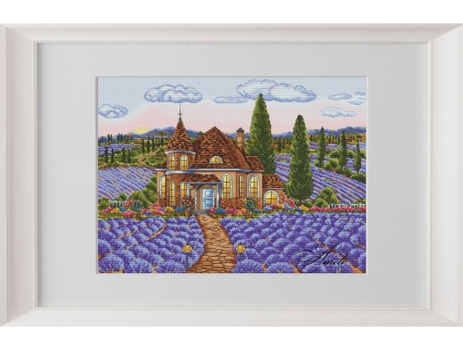 Dawn in the Lavender Valley Cross Stitch Pattern фото 1