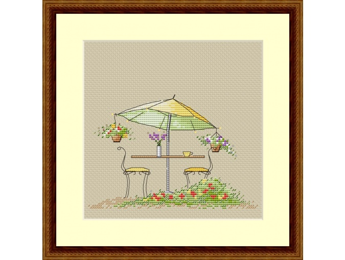 Summer Cafe Cross Stitch Chart фото 1