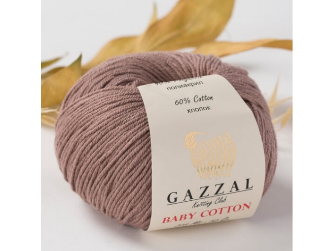Gazzal Baby Cotton, 60% Cotton, 40% Acrylic 10 Skein Value Pack, 500g фото 50
