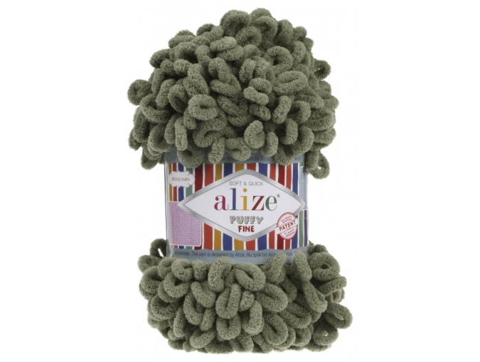 Alize Puffy Fine, 100% Micropolyester 5 Skein Value Pack, 500g фото 2