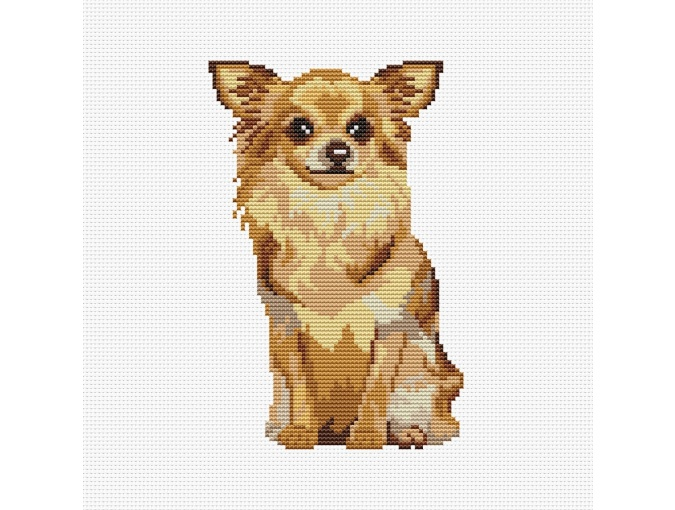 Chihuahua Cross Stitch Pattern фото 1