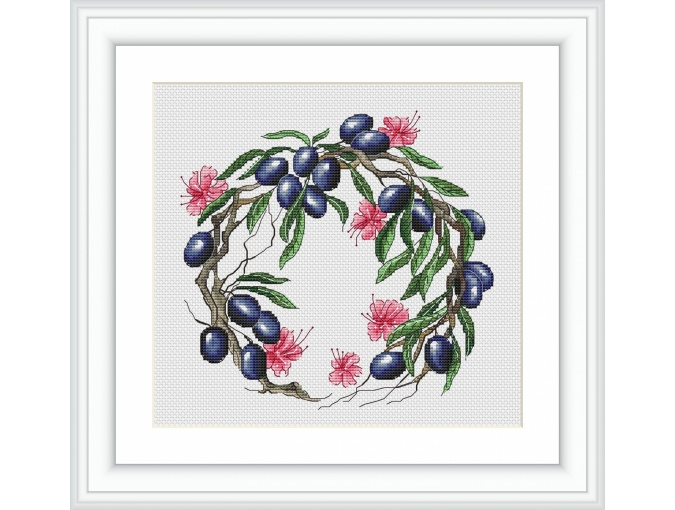 Oleander and Olive Cross Stitch Pattern фото 1