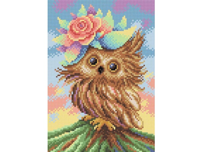 Adorable Owlet Diamond Painting Kit фото 1