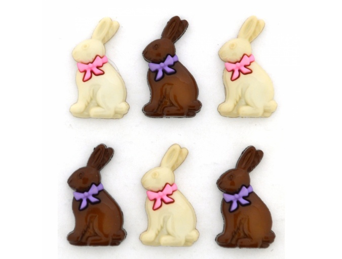 Chocolate Bunnies Set of Decorative Buttons фото 1