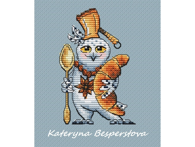 Knight of the Coffee Order Cross Stitch Pattern фото 1